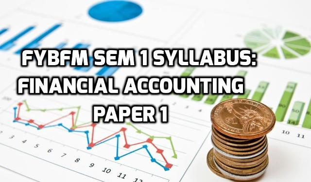 Financial accounting 1 syllabus